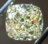 SOLD......1.56ct Light Yellow IF Cushion Cut Diamond R7908
