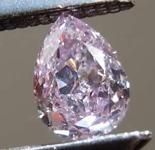 .18ct Pink-Purple SI1 Pear Shape Diamond R7912