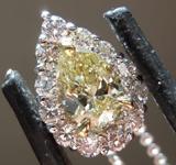 SOLD.....50ct Light Yellow SI1 Pear Shape Diamond Pendant R7880