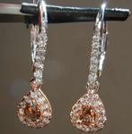 0.69ctw Brown and Colorless Diamond Earrings R7413