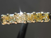 0.89ctw Assorted Fancy Colored Cushion Diamond Ring R7854