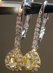 SOLD.....36ctw Greenish Yellow SI1 Pear Diamond Earrings  R7901