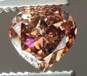.71ct Orangy Brown SI2 Heart Shape Diamond R7943