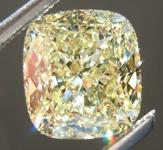 SOLD....1.89ct Light Yellow IF Cushion Cut Diamond R7957