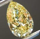 1.55ct Intense Yellow IF Pear Diamond R7958
