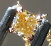 SOLD.....55ct Brownish Yellow SI2 Cushion Cut Diamond Necklace R7914