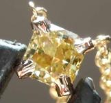 SOLD....24ct Greenish Yellow VS1 Cushion Cut Diamond Necklace R7915