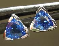 SOLD...0.86ctw Blue Trilliant Sapphire Earrings R7934