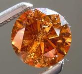 SOLD........70ct Natural Orange I2 Round Brilliant Diamond R7961
