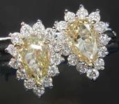 SOLD.....1.04cts Y-Z Pear Shape Diamond Earrings R7948