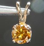 SOLD...0.33ct Orange Brown SI2 Round Diamond Necklace R7746