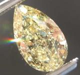 SOLD.....1.01ct Yellow VS2 Pear Shape Diamond R8004