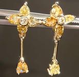 1.19ctw Fancy Colored Diamond Earrings R8032