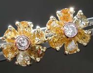 SOLD....1.00ctw Fancy Colored Diamond Earrings R7992
