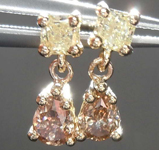 .51ctw Yellow and Brown Diamond Earrings R7414