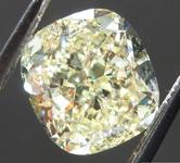 SOLD....2.46ct Light Yellow VS1 Cushion Cut Diamond R8100