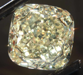 SOLD....10.67ct Yellow VVS1 Cushion Cut Diamond R8097