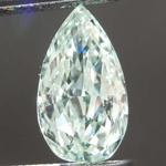 SOLD....1.05ct Intense Bluish-Green VS1 Pear Diamond R8090