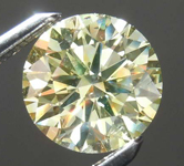 SOLD...1.20ct Greenish Yellow SI1 Round Brilliant Diamond R8087