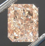 SOLD.....1.14ct Brownish Yellowish Orange SI1 Radiant Cut Diamond R8121