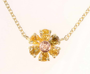 SOLD......64ctw Fancy Colored Diamond Necklace R7994