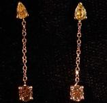 .65ctw Yellow and Brown Diamond Earrings R8062