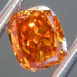 .52ct Orange SI1 Cushion Cut Diamond R8132