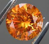 1.23ct Orange SI2 Round Brilliant Diamond R8139