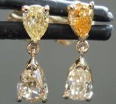 .74ctw Yellow Pear Diamond Earrings R8095