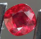 SOLD....1.37ct Cushion Cut Ruby R8154