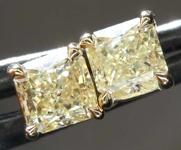 SOLD....1.25ctw Y-Z Radiant Cut Diamond Earrings R8112