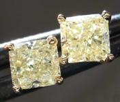 SOLD.....99ctw Y-Z Radiant Cut Diamond Earrings R8114