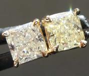 1.09ctw Yellow Radiant Cut Diamond Earrings R8116