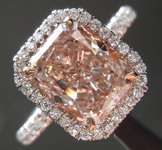 2.20ct Pink VVS2 Radiant Cut Diamond Ring R8022