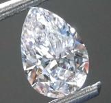 SOLD....68ct D VS2 Pear Shape Diamond R8166