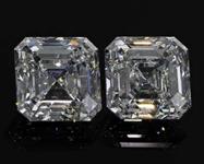 SOLD....2.40ct F VS2 Asscher Cut Diamond Earrings R8176
