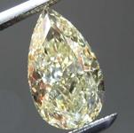 1.33ct Light Yellow VS2 Pear Shape Diamond R8191