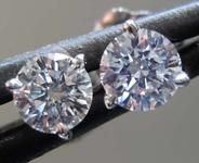 SOLD....54ctw G VS Round Brilliant Diamond Earrings R8194