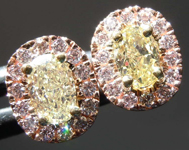 SOLD.....65cts Yellow Oval Diamond Earrings R8201