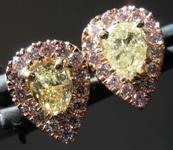 .56cts Yellow Pear Shape Diamond Earrings R8200