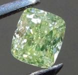 .52ct Fancy Green Yellow SI2 Cushion Cut Diamond R8246