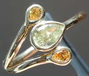 .44ctw Yellow and Orange Pear Diamond Ring R8212