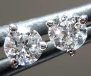 0.40ctw F VS Round Brilliant Diamond Earrings R8209