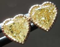 SOLD...2.05ctw Yellow Heart Shape Diamond Earrings R8279