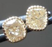 SOLD.... 1.20ctw Brownish Yellow VS2 Cushion Cut Diamond Earrings R8280