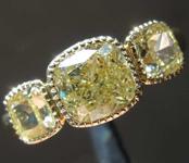 SOLD...2.55ctw Yellow Cushion Cut Diamond Ring R8259