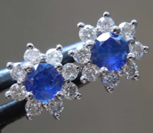 SOLD....0.50cts Blue Round Brilliant Sapphire Earrings R4875