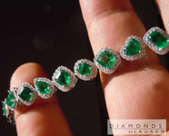 SOLD...12.88cts Emerald Bracelet R8327