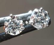 0.57ctw G SI2 Round Brilliant Diamond Earrings R8074