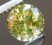 0.52ct Fancy Yellow I1 Round Brilliant Diamond R8079